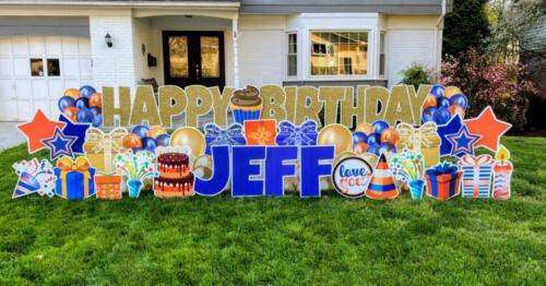 jeffs birthday yard card west springfield va