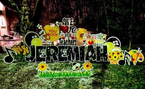jeremiah teacher appreciation yard card arlington va
