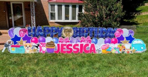 jessica birthday yard card sweet 16 springfield va
