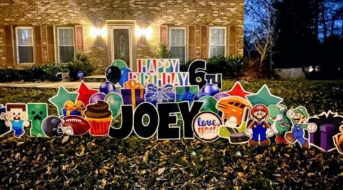 joeys 6th birthday yard sign springfield va