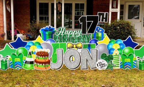 jon birthday yard card fairfax va