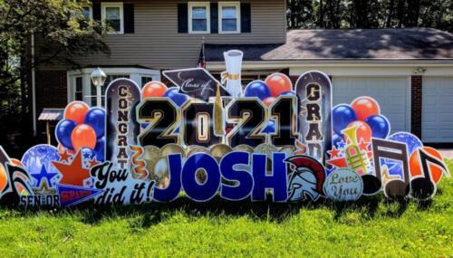 josh high school graduation yard sign west springfield va