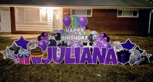 juliana birthday yard card alexandria va