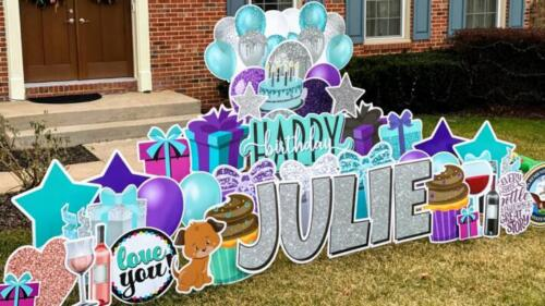 julie happy birthday yard card springfield va