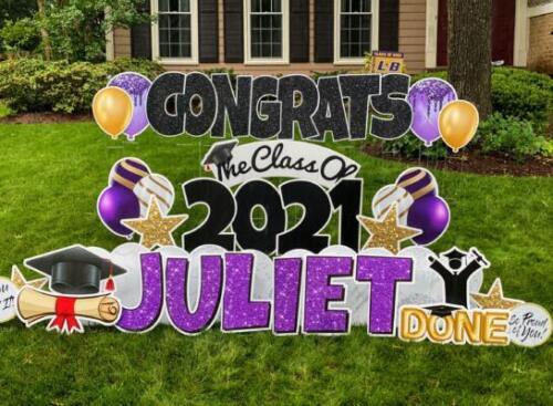 juliet graduation yard card burke va