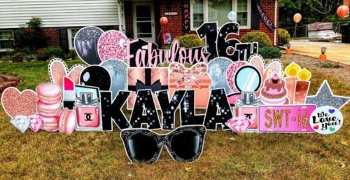 happy birthday kayla fabulous 16th birthday yard sign springfield va