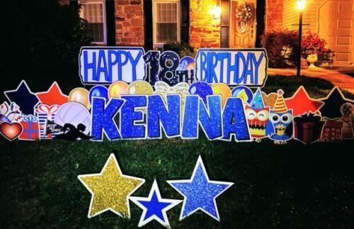 happy birthday yard signs springfield va