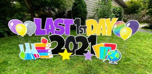 1st day of school seniors yard greeting burke VA