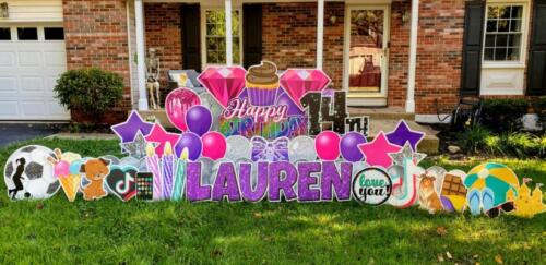 lauren 14th birthday yard card burke va