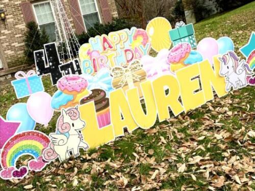 donuts birthday yard card springfield va