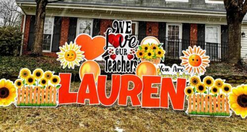 lauren teacher appreciation yard card springfield va