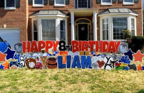 liam happy birthday yard crd springfield va