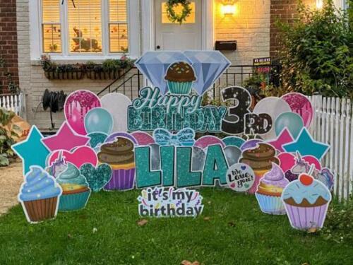 lila 3rd birthday yard card alexandria va