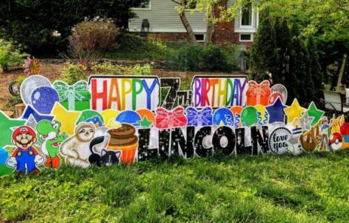 lincoln birthday yard card springfield va