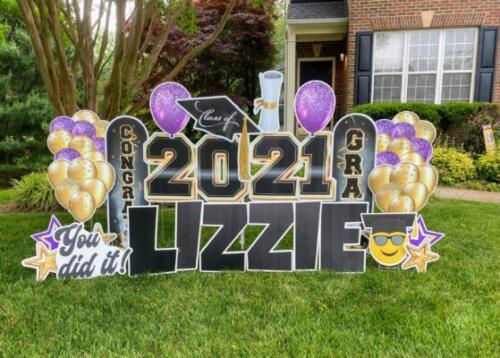 lizzie graduation yard card burke va