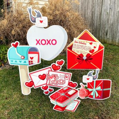 love letters pop up valentines yard cards springfield va
