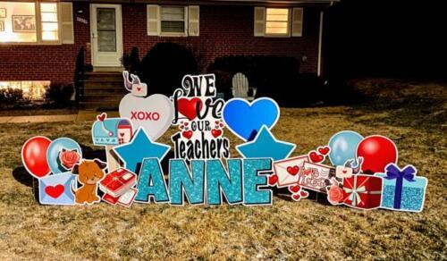 love our teachers yard cards alexandria va