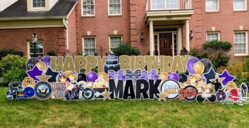 mark birthday yard sign fairfax station va