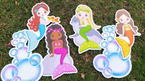 mermaid yard card flair