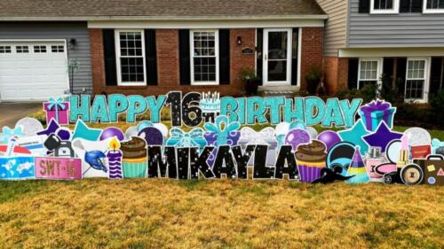 mikayla 16th birthday yard card burke va
