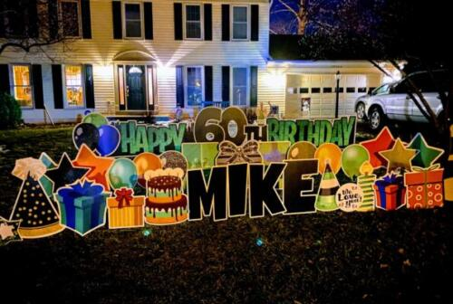 mike 60th birthday yard card herndon va