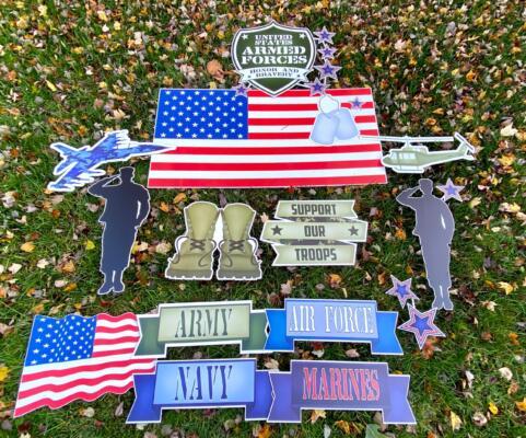 military yard card flairs