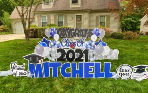 mitchelle graduation yard card springfield va