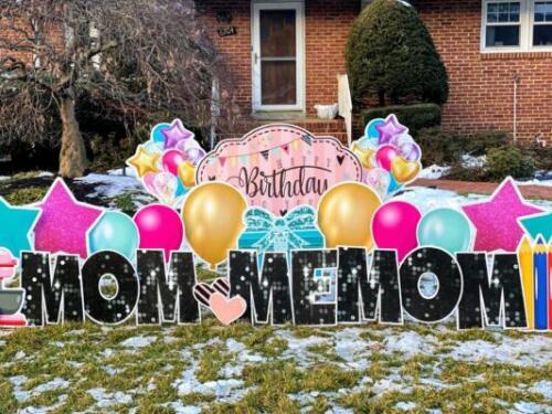 mom happy birthday yard sign springfield va