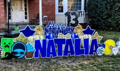 natalia bithday yard card springfield va
