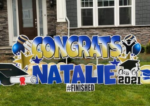 natalie graduation yard sign falls church va