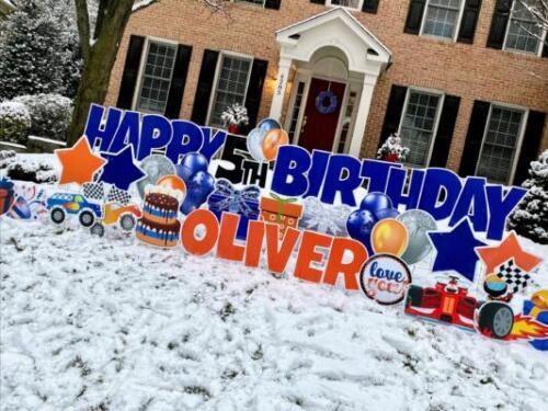 oliver birthday yard sign springfield va