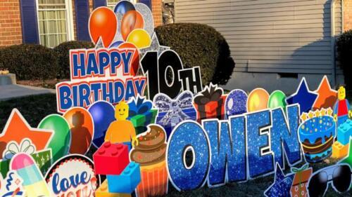 owen 10th birthday yard card burke va
