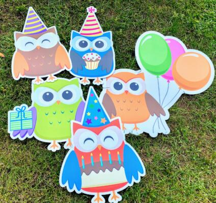 owl happy birthday yard cards springfield va