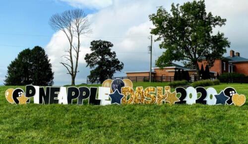 team building 2020 pineapple dash yard sign annandale va