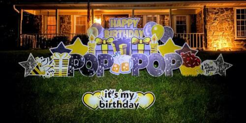 happy birthday yard card burke va