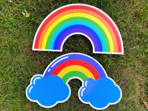 primary rainbow yard cards burke va