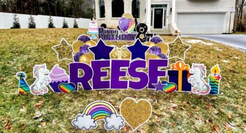 reese birthday yard card fairfax va