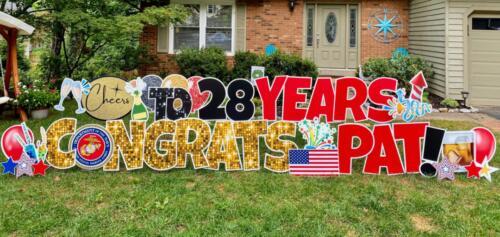 retirement yard greetings burke VA