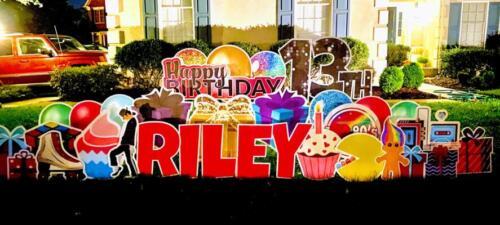 riley 80s birthday yard card springfield va