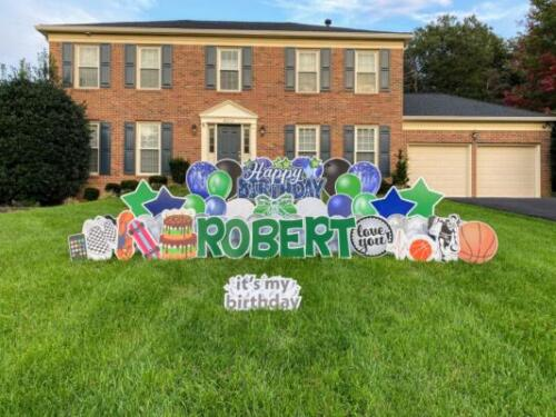 robert birthday yard card fairfax station va