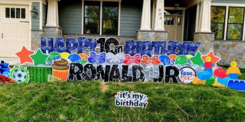 ronald jr 10th birthday yard card vienna va