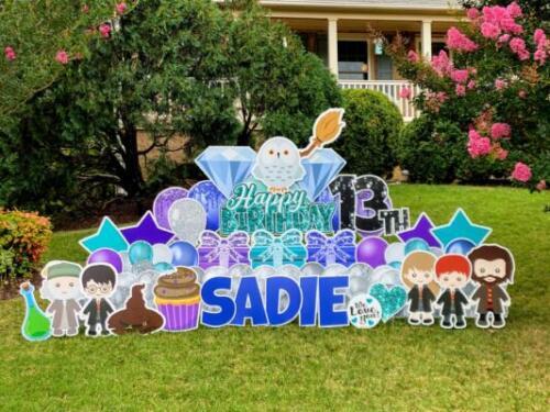sadie 13th wizarding birthday yard sign springfield va