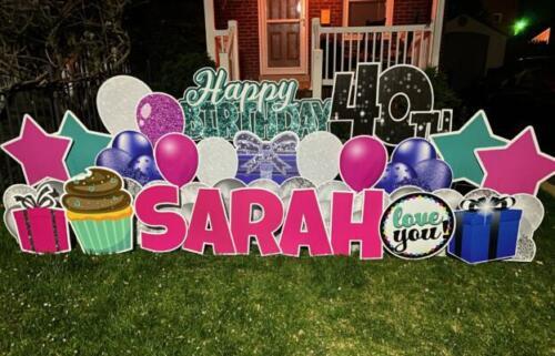 sarah 40th birthday yard sign arlington va