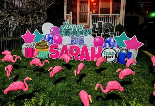 sarah 40th flamingo flocking arlington va