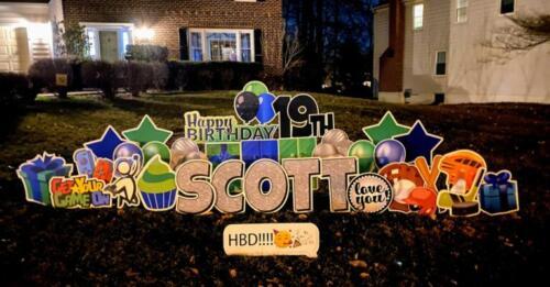 scott birthday yard card burke va