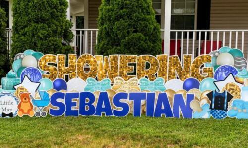 sebastian baby shower yard card