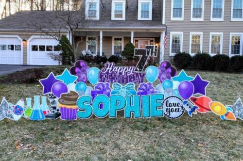 sophies 7th birthday yard card fairfax station va