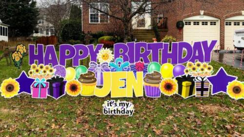 sunflowers birthday yard card burke va