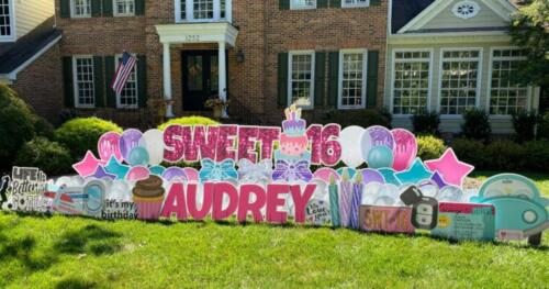sweet 16 audrey birthday yard sign reston va