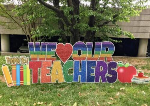 teacher appreciation yard card mclean va